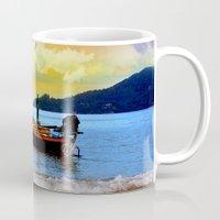 thailand Mugs featuring  thailand by mark ashkenazi