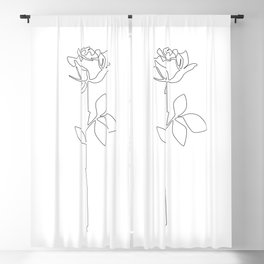 Fragile Rose Blackout Curtain