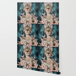 Cat Lady Wallpaper