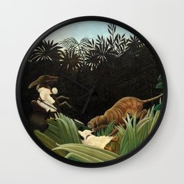 Henri Rousseau - Scouts Attacked by a Tiger Wall Clock