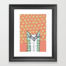 Cubist Cat Study #2 by Friztin Framed Art Print