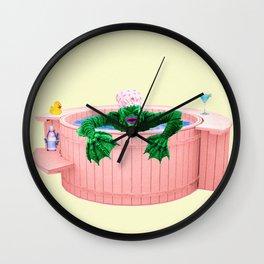 Black Lagoon Monster In Hot Tub Wall Clock