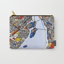 montreal mondrian map Carry-All Pouch