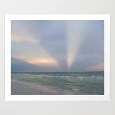 Super Seascape Sky Art Print