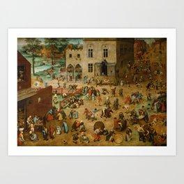 Children's Games -  Pieter Bruegel the Elder 1560  Art Print