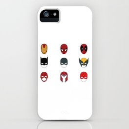Superhero Masks 3 iPhone Case