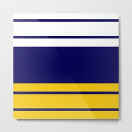 Team Colors 9....Navy , white and gold Metal Print