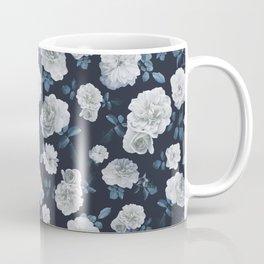 White Roses Flower pattern Coffee Mug