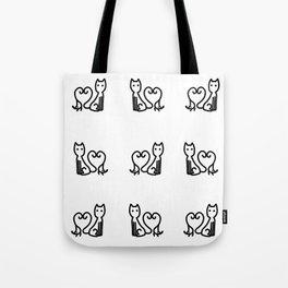 Chat et souris Tote Bag