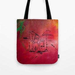 Music, Drummer, Drums, Orignal Artwork By Jodi Tomer. Rock and Roll Drums Tote Bag