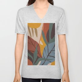 Abstract Art Jungle Unisex V-Neck
