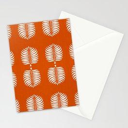 TROPICAL PALMS . ORANGE + WHITE Stationery Cards