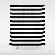 Modern Black Stripes Shower Curtain