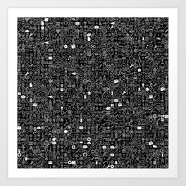 ICONS Overdrive, White and Black Art Print
