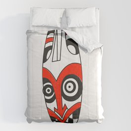 Tribal mask present bright Comforters