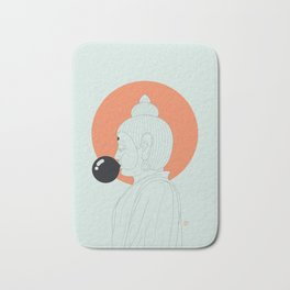 Buddha : Concentrate on the Void! Bath Mat
