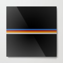 Frigg - Classic Minimal Retro Stripes Metal Print