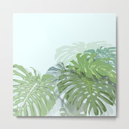 Monstera's love Metal Print