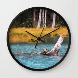 Blue Tranquility Wall Clock