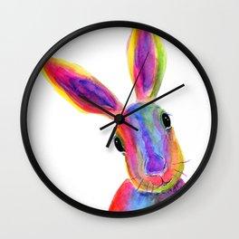 Happy Hare ' ZIGGY ' by Shirley MacArthur Wall Clock