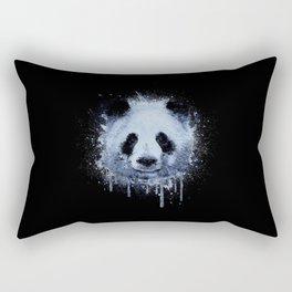 Painted Panda Rectangular Pillow
