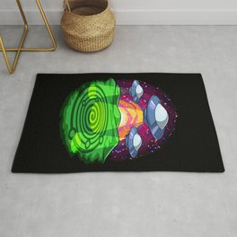 Alien Abduction Crop Circles Rug