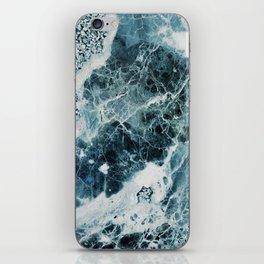 Blue Sea Marble iPhone Skin