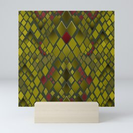 Snakeskin graphics. Mini Art Print