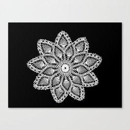 lace round ornament Canvas Print