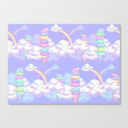 Ice Cream Skies Canvas Print