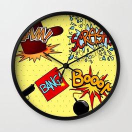 Onomatopoeia set Wall Clock