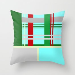 Christmas Gingham Abstract Square Pattern Throw Pillow