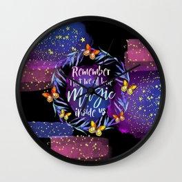 Stars Magic Wall Clock