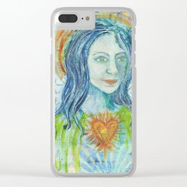 Fierce Heart (Love and Light) Clear iPhone Case
