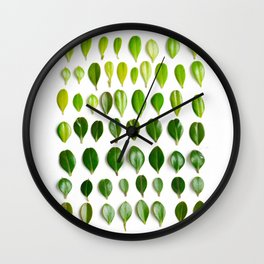 ombre leaves Wall Clock