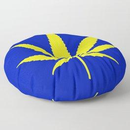 Weed Hash Bash Blue Floor Pillow