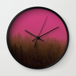 Pink & Chocolate Taffy Fog - Seward, Alaska Wall Clock