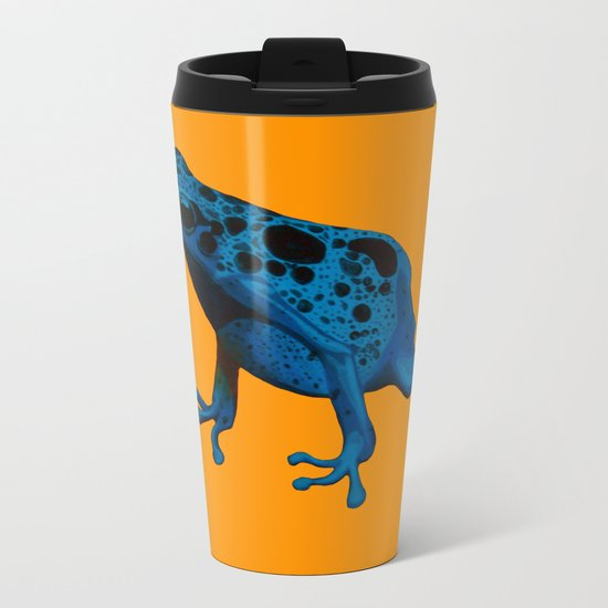 Blue Frog Metal Travel Mug