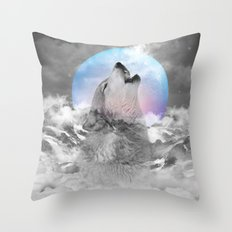 Maybe the Wolf Is In Love with the Moon / Unrequited Love Throw Pillow