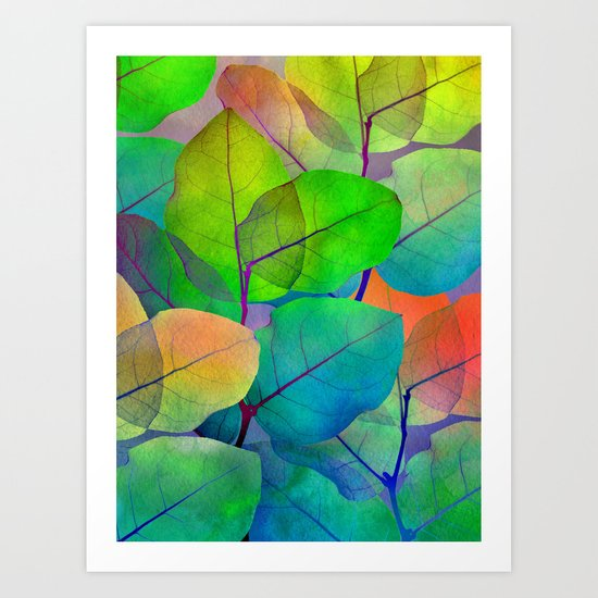Translucent Leaves Art Print
