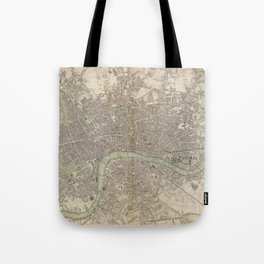 Vintage Map of London England (1843) Tote Bag