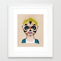 evan peters Framed Art Prints featuring Evan by Feral Doe