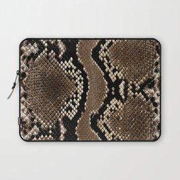 Python Skin Pattern Snake Skin Brown Animal Print Home Decor Laptop Sleeve
