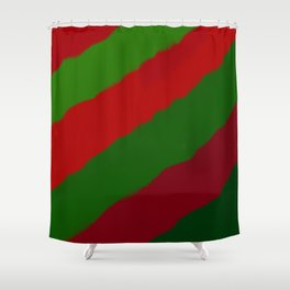Red and Green Christmas Gift Shower Curtain