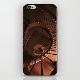 Spiral staircase in browns iPhone Skin