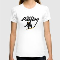 snowboard T-shirts featuring Snowboard Passion by LR Design