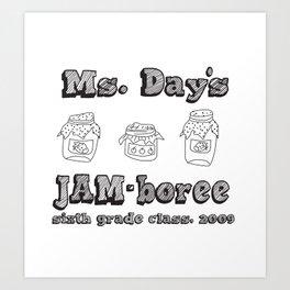 Jammin' JAM-boree Art Print