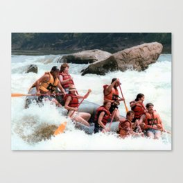 Rafting the Youghiogheny Canvas Print