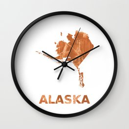 Alaska map outline Peru hand-drawn wash drawing Wall Clock