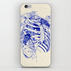 collarbone blue iPhone & iPod Skin